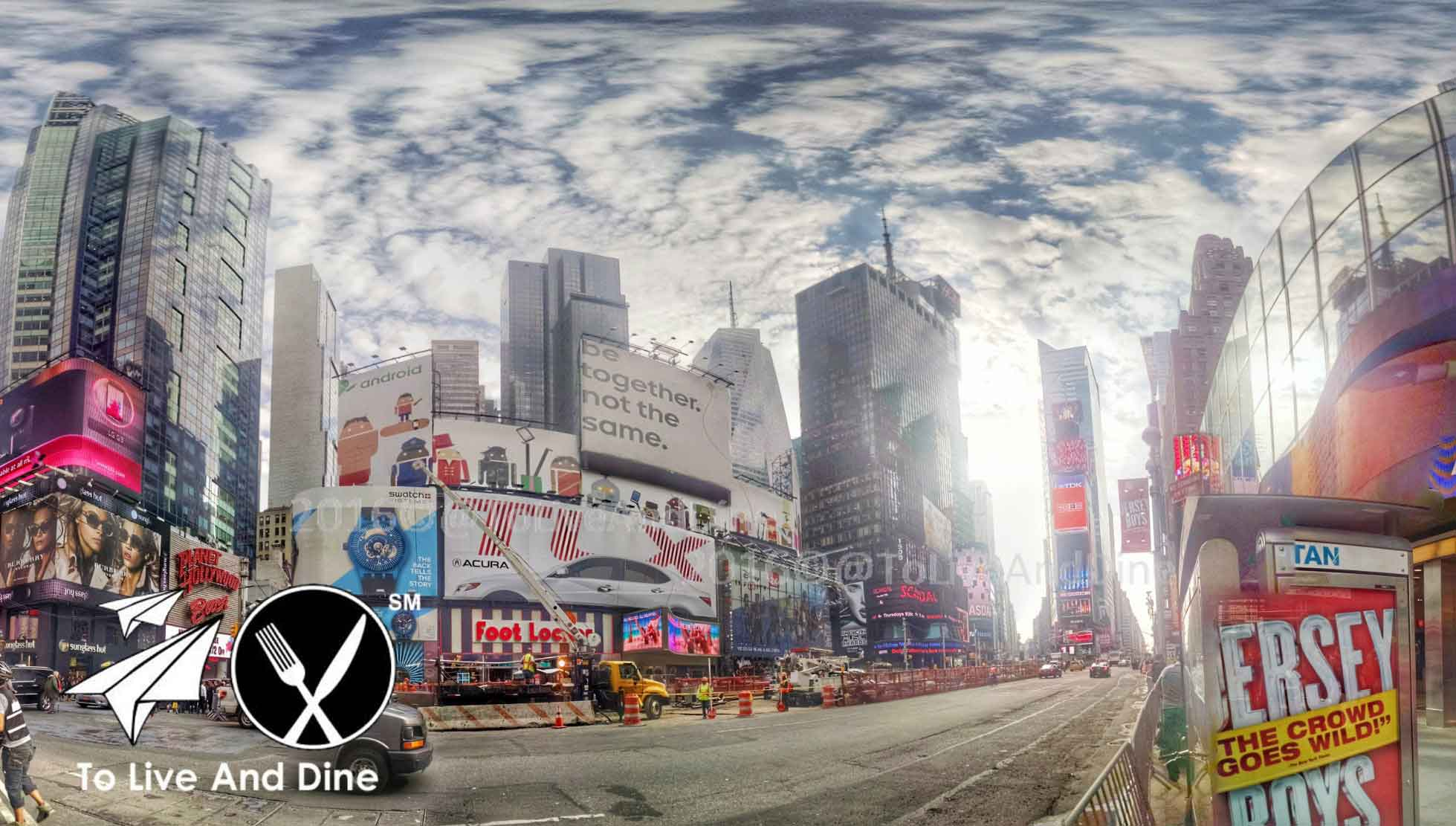 Photosphere of Time Square