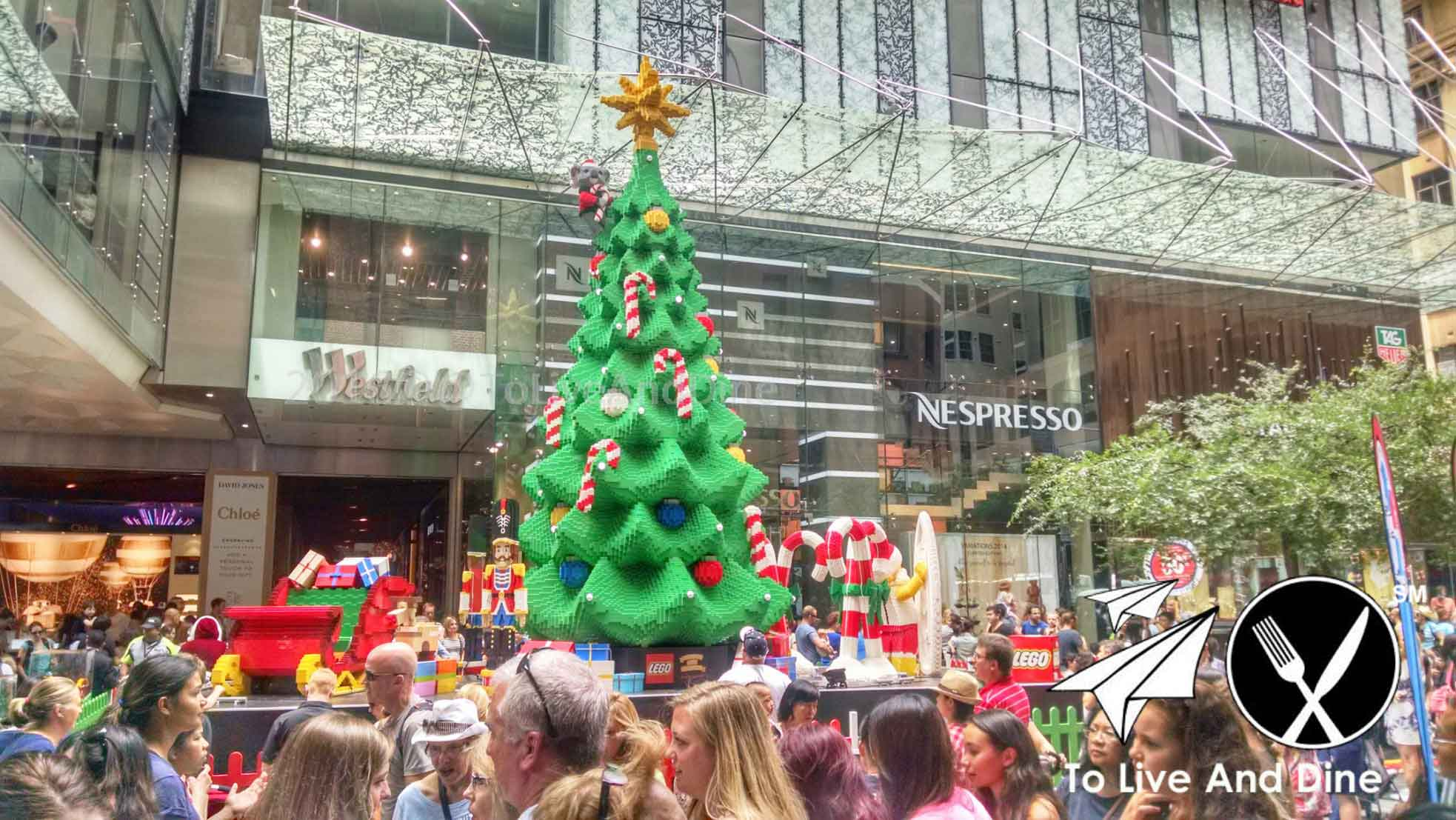 Lego Christmas Tree at Westfield Mall