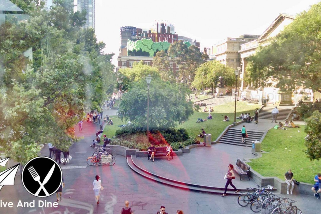 The view of the State Library in Melbourne