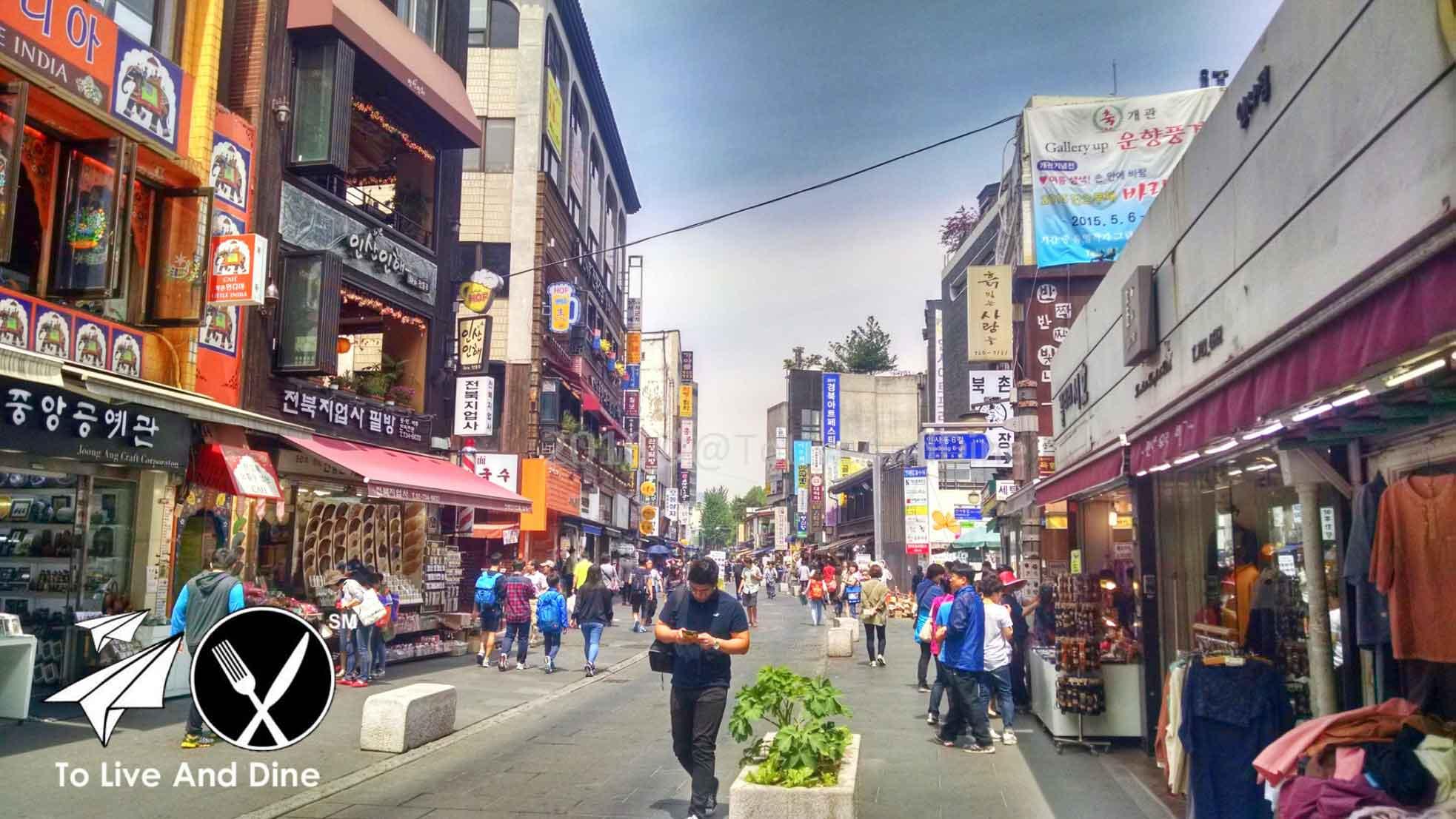 Insadong in Seoul