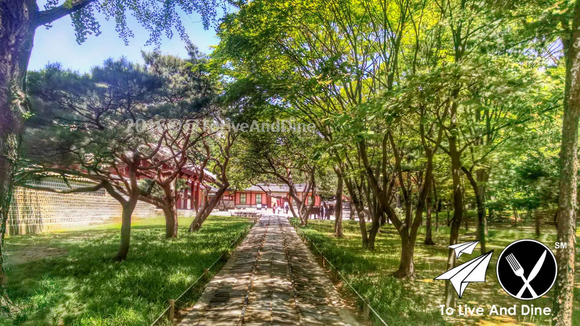 The Jongmyo grounds in Seoul